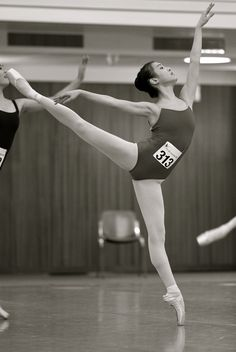 An example of what an average ballet audition looks like.