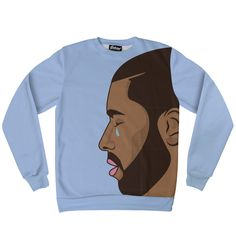 #CryingDrake Sweatshirt. • Hand Cut-n-Sewn All Over Print • 100% Soft Spun Poly Fleece • Made in the California • Standard UnisexSizing Made to order, ships 1