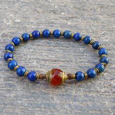 compassion genuine lapis lazuli gemstone mala by lovepray on Etsy, $39.00