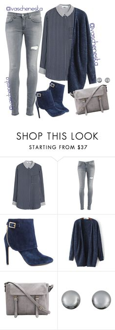 """""""Untitled #737"""" by loo0oove-16 ❤ liked on Polyvore featuring MANGO, Dondup, Jessica Simpson and Kenneth Jay Lane"""
