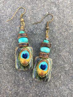 Boho Earrings Unique Earrings Hippie Earrings by BeachBohoJewelry