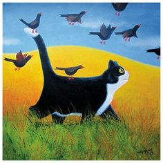 Going Places | Cat Cards by Vicky Mount