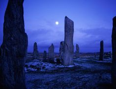 The Standing Stones of Callanish on the Isle of Lewis in Scotland are over 4000 years old.