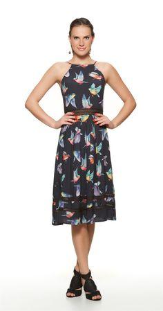 Só na Antix Store você encontra Vestido Midi Pássaros Coloridos com exclusividade na internet