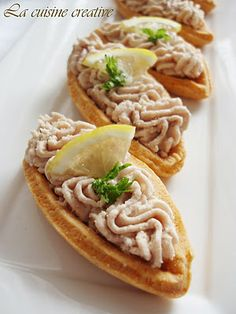 Ladjice sa musom od tunjevine/Tuna mousse appetizer