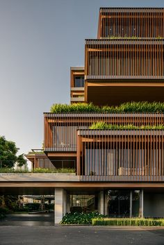 #architecture #architectural #design #office #modern #building #wooden #wood #contemporary #garden #green