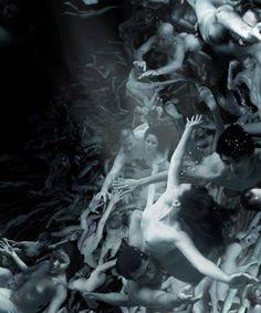 Angelo Musco es un artista italiano Contemporáneo conocido por sus paisajes fotográficos surrealistas construidos por milla de cuerpos desnudos.