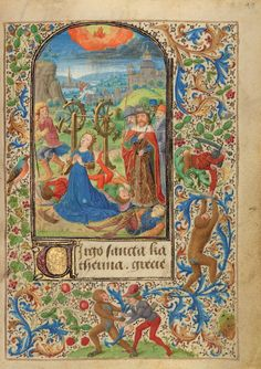 The Martyrdom of Saint Catherine; Lieven van Lathem (Flemish, about 1430 - 1493); Antwerp (illuminated), Belgium; 1469; Tempera colors, gold leaf, gold paint, silver paint, and ink on parchment; Leaf: 12.4 x 9.2 cm (4 7/8 x 3 5/8 in.); Ms. 37, fol. 48; J. Paul Getty Museum, Los Angeles, California