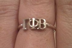 Sterling Silver Gamma Phi Beta Ring $28.00 greekgirlshop.com #gammaphibeta #GPhiB