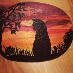 Sillouette #paintedrocks #gardenrocks #rocks #paintingrocks #painting #rockbeauty #stonecanvas #rockpainting