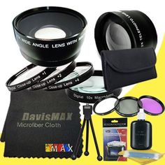 DavisMAX Tamron AF 55-200mm F//4.0-5.6 Di-II LD Macro Lens for Nikon Digital SLR Cameras Lens Cap Keeper 52mm 3 Piece Filter Kit Deluxe Starter Kit Bundle international model