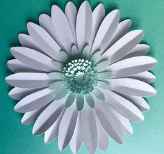 Apoyo de fotografía perla y Aquamarine gigante papel flor de