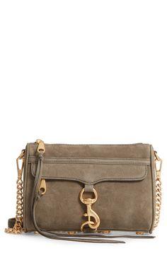 Nubuck Convertible Crossbody Bag
