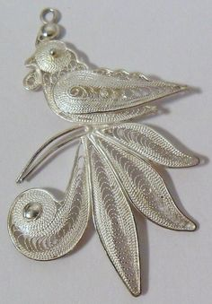 Sterling Silver Filigree Peacock Pendant by onetime on Etsy, $9.25