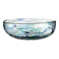 Poza Glass Bowl from Crate and Barrel Crate And Barrel Registry, Beautiful Dining Rooms, Recycled Glass, Inspired Homes, Serving Dishes, Glass Bottles, Decorating Your Home, A Table, Crates