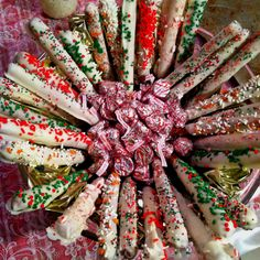 Christmas Chocolate covered pretzels!