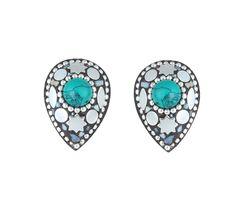 Waama Jewels Multi Color Cubic Zirconia Silver Plated Studs Earring for Women - Waama Jewels Finger ring