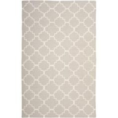 Great size, 9 x 13.  This doesn't seem as girly to me as the others.  Moroccan Dhurrie Grey/ Ivory Wool Rug (9' x 12')