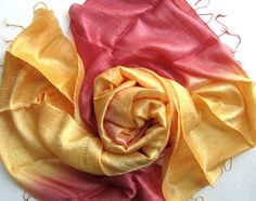 Silk shawl-Handmade raw silk by PlanetEarthHandmade on Etsy