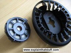 Photo of loudspeaker inside Sennheiser headphone