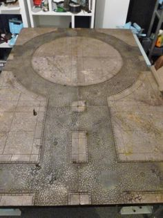 We are miniature games enthusiasts who love to make hand made Terrain; We believe that great tables and terrain make for a more memorable gaming experience and since we constantly. Warhammer Terrain, 40k Terrain, Game Terrain, Warhammer 40k, Wargaming Table, Wargaming Terrain, Geek Room, Floor Texture, Game Pieces