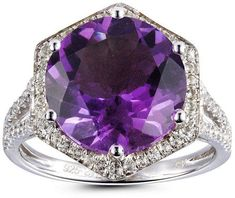 Halo Engagement Rings – Page 8 – Fine Rings Star Jewelry, Pandora Jewelry, Jewelry Rings, Fine Jewelry, Jewelry Ideas, Jewellery, Purple Engagement Rings, Beautiful Wedding Rings, Sparkly Jewelry