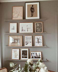 Minimalist Interior, Minimalist Home, Living Room Interior, Home Living Room, Frame Shelf, Diy Bedroom Decor, Home Decor, Decoration, House Colors