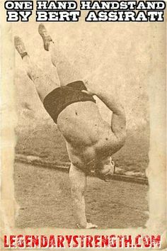 val vasilef performing a handstand on top of the bill st john who