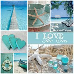 ❧ Collages van foto's ❧ - Lilly is Love Beach Room, Ocean Beach, Coastal Style, Coastal Decor, Deco Marine, Pot Pourri, Color Collage, Beach Crafts, Coastal Homes