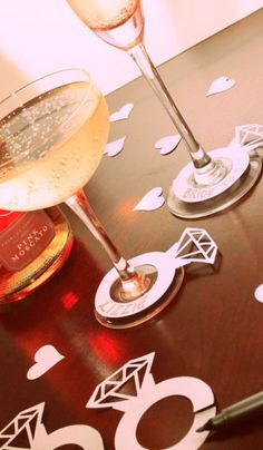 Mark drinks with these fun labels. | Community Post: 30 Swoon-Worthy Engagement Party Ideas