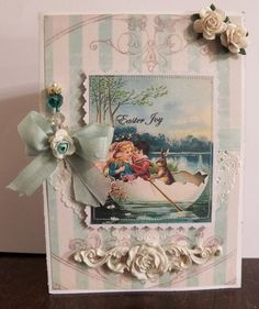 shabby chic easter joy, melissa frances