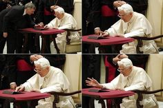 PROGRESSIVE POPE: Pope Benedict XVI posted his first tweet, using the handle @Pontifex, on a tablet in Vatican City Wednesday. His message: 'Dear Friends, I am pleased to get in touch with you through Twitter. Thank you for your generous response. I bless all of you from my heart.'