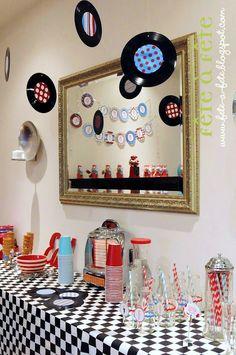 Fête à Fête: Gabriel's 4th birthday party - Soda Shop & Diner fun!