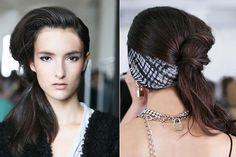 Rodarte (Runway). A deep side part with a barrel curl wave. So gorgeous. So retro, an absolute must for the summer. For the necessary volume, extensions can be added or a quick spray of our amazing organic dry shampoo.   www.hairxtensionbar.com