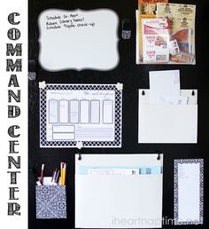 DIY Family Command Center with free download! #backtoschool #organization