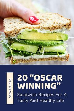 "20 ""Oscar Winning"" sandwich recipes for a tasty and healthy life. Diabetic Recipes, Raw Food Recipes, Cooking Recipes, Drink Recipes, Healthy Sandwiches, Sandwich Recipes, Grilled Pesto Chicken, Healthy Life, Healthy Eating"
