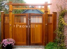 another great wooden garden gate