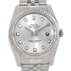 Rolex Datejust Mens Steel 18K White Gold Diamond Watch. Get the lowest price on Rolex Datejust Mens Steel 18K White Gold Diamond Watch and other fabulous designer clothing and accessories! Shop Tradesy now