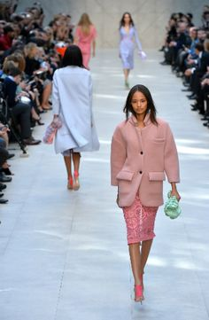 Highlights from London Fashion Week: Tom Ford glitters the runway, Burberry was all about romance and lace and black and white ruled at Erdem .