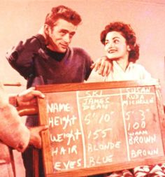 Jimmy with Ruda Michelle during a screen test for a tv show in 1954