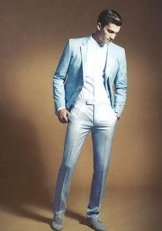 mens light blue suit. its like that light blue awful prom suit minus the awful.