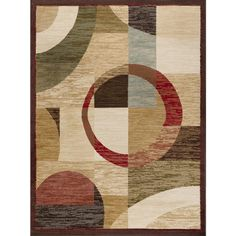 Elegance Multi 7 ft. 6 in. x 9 ft. 10 in. Contemporary Area Rug