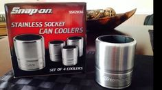 New Box Of 4 Snapon Can Cooler Koozies Collectible Soda Coca Cola Drink Coozies in Mechanics | eBay