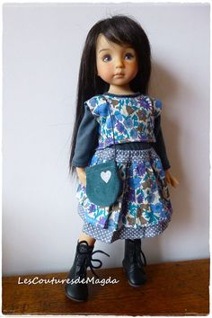 Little Darling Effner doll outfit Chéries by LesCouturesdeMagda, €25.00