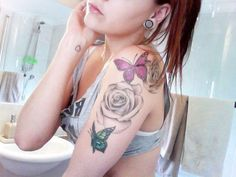 Butterfly and Rose Tattoos - Tattoo Shortlist