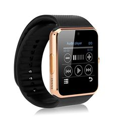 Hongyu GT08 Bluetooth Smart Watch with Camera, SIM Card Slot For Iphone And Android Phones - Gold *** Be sure to check out this awesome product.
