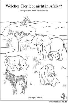 malvorlage tiere afrika | malvorlagen - ausmalbilder