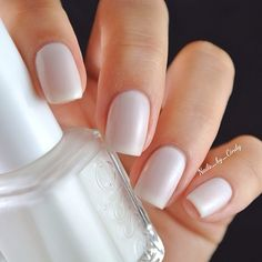 This sheer and whimsical white is called, 'She Said Yes'. It is part of essie's new Bridal 2014 Collection. It has a subtle distribution of microglitter throughout. A gorgeous color for the blushing bride.