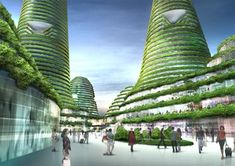 Dutch atchitects MVRDV have won a competition to design a city centre for Gwanggyo, a new town south of Seoul, Korea.    WOW!!!!
