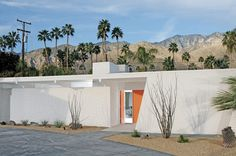 Talk about crisp white and beautiful, this mid century modern home located in Palm Springs was completely stripped down and brought back to it's glory days.